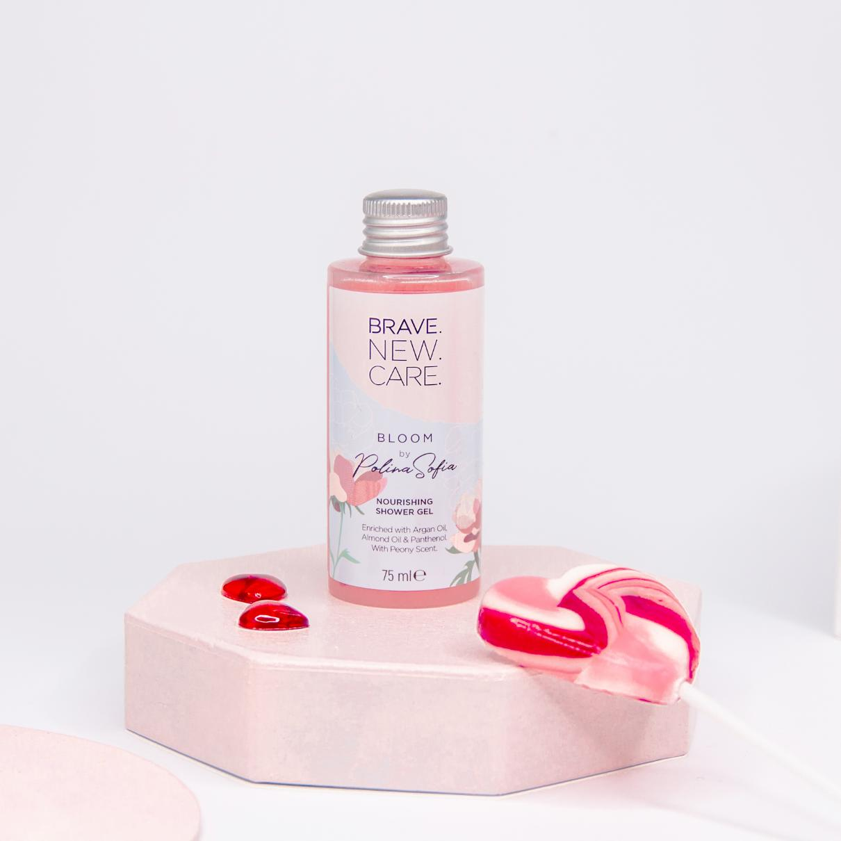 Омекотяващ душ гел Bloom by PolinaSofia, Brave New Care, 75мл.